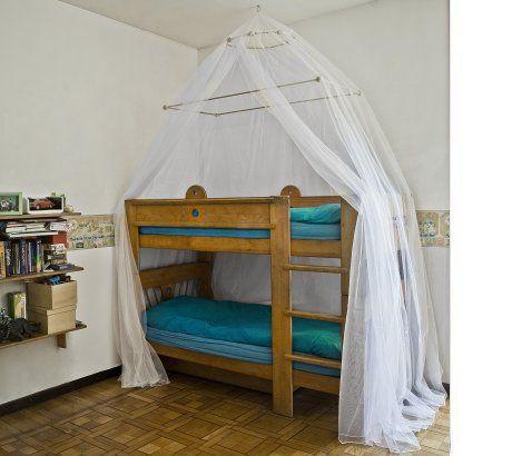 MARTA zanzariera a doppio telaio per letti a castello - #zanzariera #letto #baldacchino #bambini #Grigolite