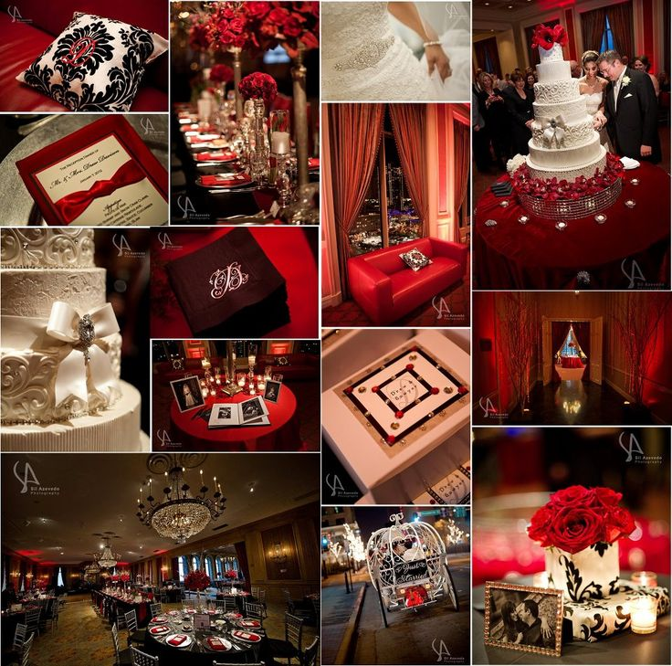 Red and silver party decorations color palette of red - Black silver and white party decorations ...