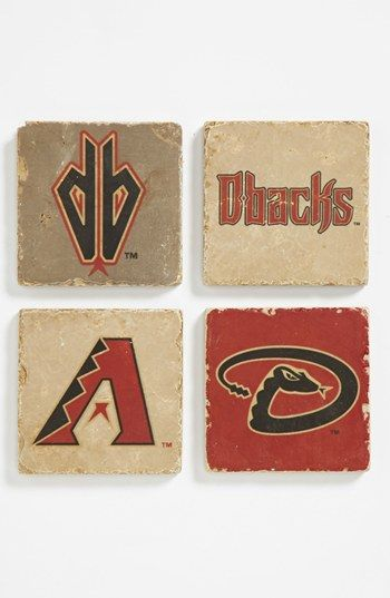 'Arizona Diamondbacks' Marble Coasters (Set of 4) available at #Nordstrom
