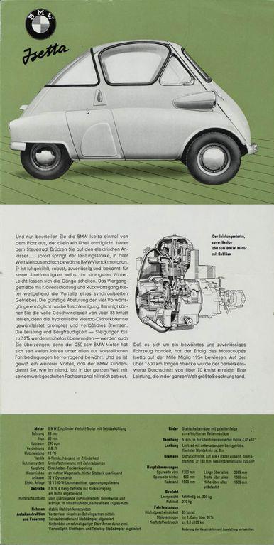 2/2 - BMW Isetta 1960 brochure (right side).