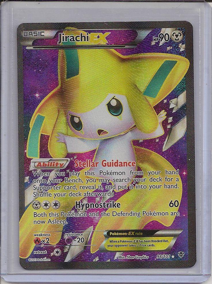 Jirachi Ex 98 101 Full Art Holo Plasma Blast Pokemon Card Mint Pokemon Collectibles