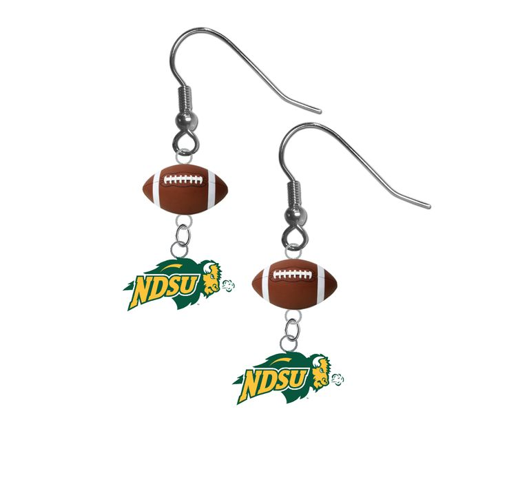 North Dakota State Bison NCAA Football Dangle Earrings
