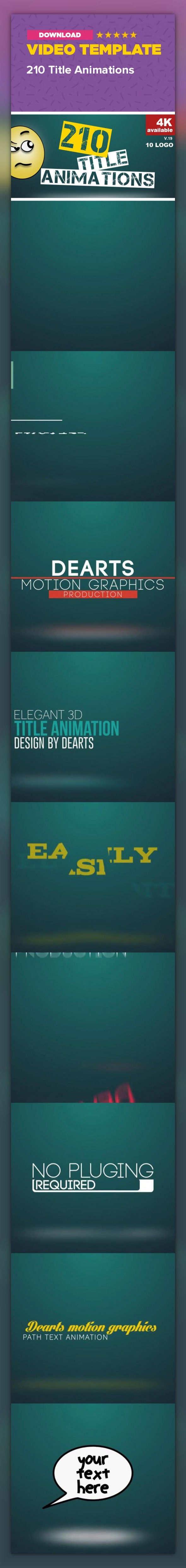 clean, corporate, kinetic, layouts, lower thirds, opener, pack, paper, presentation, promo, simple, text animation, title, title plates, typography        WHAT IS INSIDE         Buyer Reviews.          200 Ready made Massive Different  Style Title Animation project Pack with 10 LOGO reveals. Ready to use.   When you work with this title pack , you dont need any plugins and expressions or script.   Really simple and traditional animation technique.   Each title have IN / OUT…