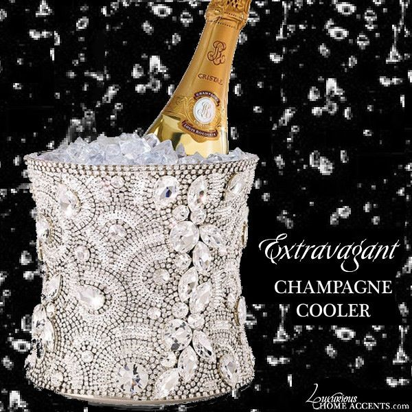 The Extravagant Swarovski Crystal Champagne Cooler from Luxurious Wedding Accessories is the ultimate Champagne Cooler for your proposal. Limited Edition. Rhodium base encrusted with various sizes and shapes of Swarovski Crystal Elements.