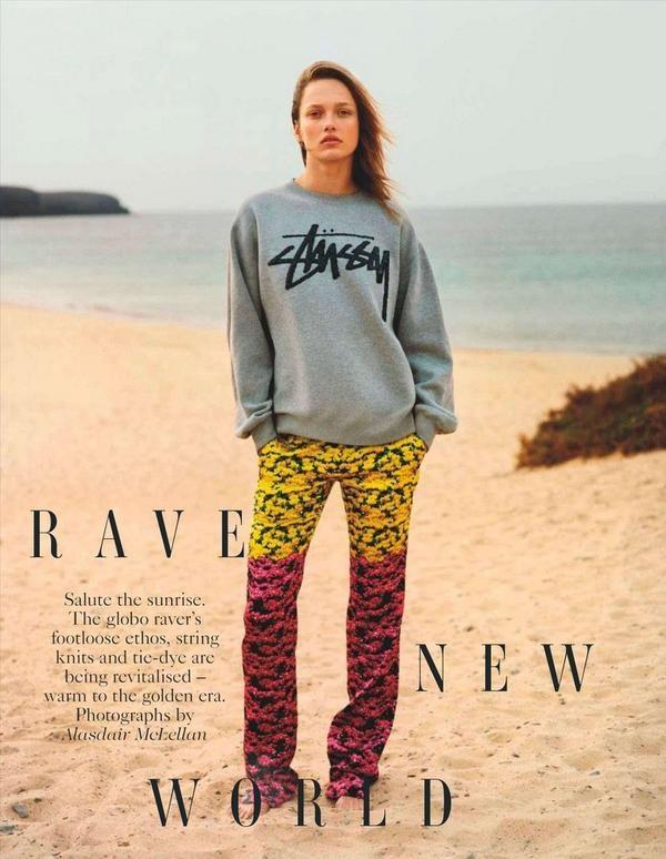UK Vogue May 2012!! #stussy #sweatshirt