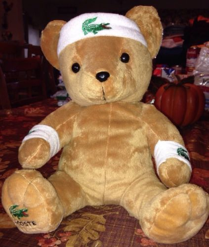 """#TeddyBears #Teddy #Bears Lacoste Parfums Perfume Workout Tan Teddy Bear 12"""" Tennis Bear #TeddyBears #Teddy #Bears"""