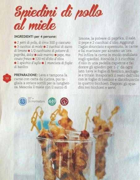 Spiedini di pollo al miele
