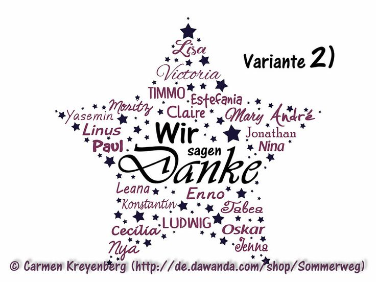 Weiteres - PDF: Stern Abschied Danke Lehrerin Erzieherin Kita - ein Designerstück von Sommerweg bei DaWanda