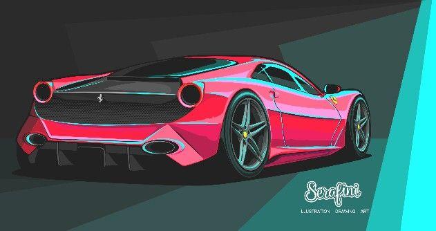Ferrari 348 Berlinetta Evoluzione Concept. Serafini. 2017