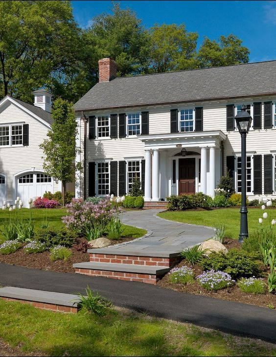 25 best ideas about colonial exterior on pinterest colonial house remodel house magazine and for Updated colonial home exterior