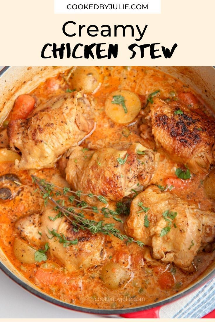 Easy Chicken Stew Recipe Video Cooked By Julie In 2020 Stew Chicken Recipe Stew Recipes Chicken Stew