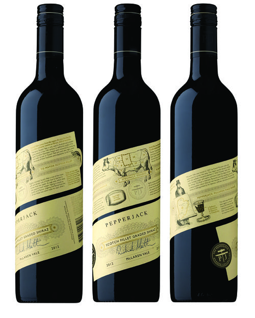 Pepperjack Graded Collection Wine // diagonal wraparound label //The Collective Australia