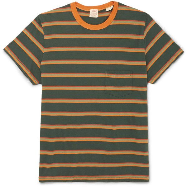 ad349e7c Levi's Vintage Clothing 1960s Striped Cotton-Jersey T-Shirt ❤ liked on  Polyvore featuring men's fashion, men's clothing, men's shirts, men's t- shirts, ...