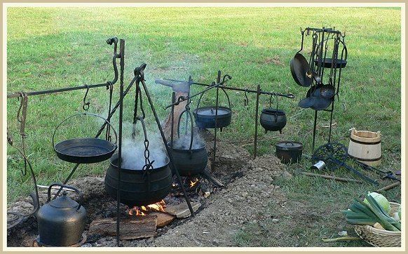 HEARTH COOKING   the hearth along with the vairious cooking utensils and tools the ...