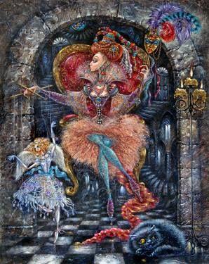 "Artist Elvira Baranova. Painting, ""Queen of Destiny""."