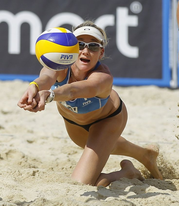 Volleyball misty may butt beach