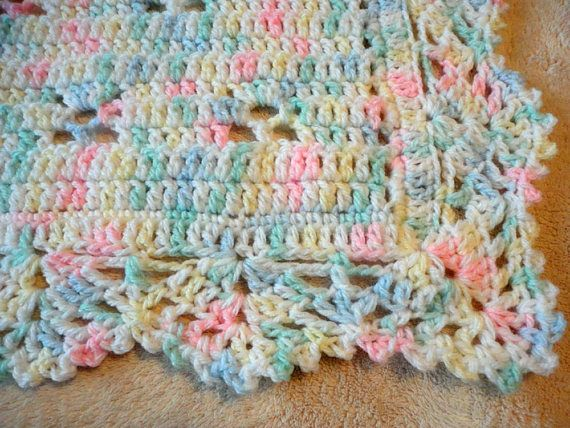 Marvelous multi-colored crocheted baby