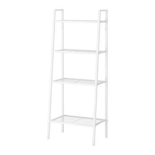 IKEA - ЛЕРБЕРГ, Секция полок, белый, , Полки различной глубины – место найдется для всего: от книг до экспонатов вашей коллекции.