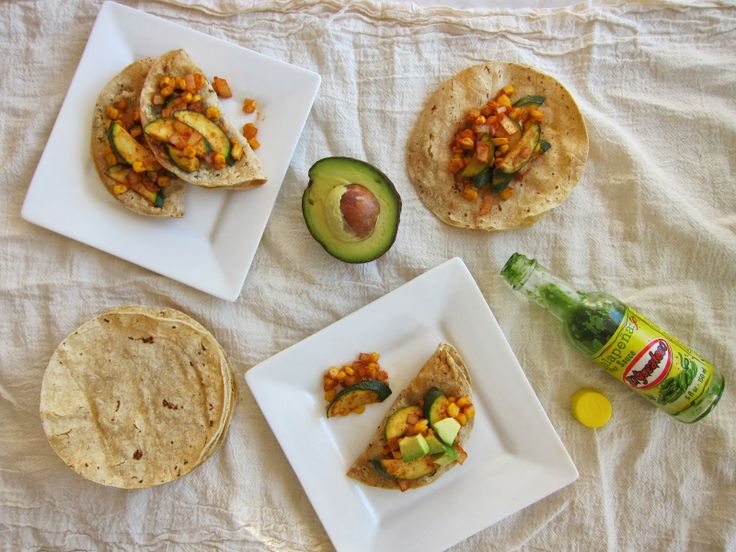 cupcakes and kale: black bean quesadillas with achiote zucchini & corn