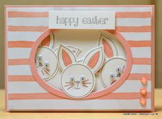 JanB Handmade Cards Atelier: Rabbits' Photobomb Easter Card