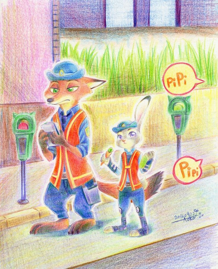 "ihavewaytoomanyproblems: ""crispyfactor: "" nekomimiranger: ""  By: 蒼子 (Pixiv) / Dsks1214 (Twitter) Headcanon time: What if Bogo set Judy on traffic duty not because she is a bunny but because he set any new recruit on traffic duty. And he tells Judy..."