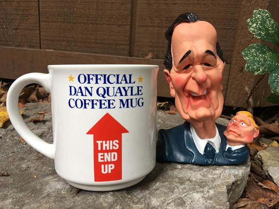 Official Dan Quayle Coffee Mug and George Bush Latex Squeaky