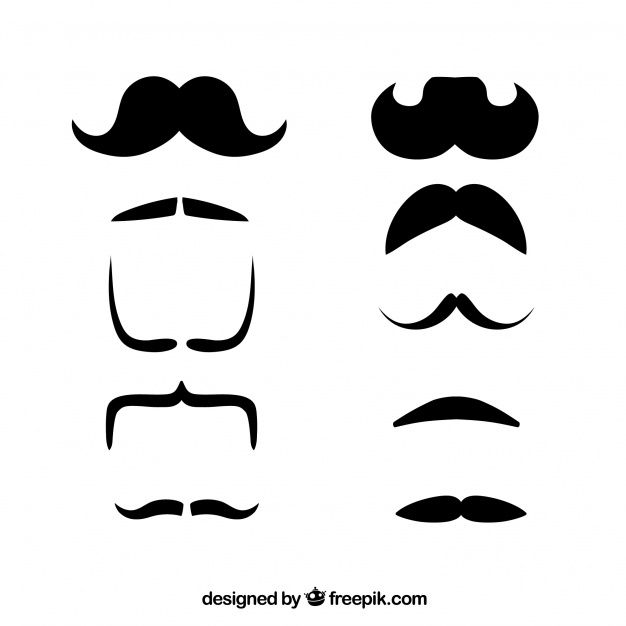 moustache-design-collection_23-2147704979.jpg (626×626)
