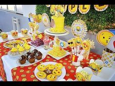 20 ideas para FIESTA DE EMOJIS - emoticons party - whatsapp party - YouTube