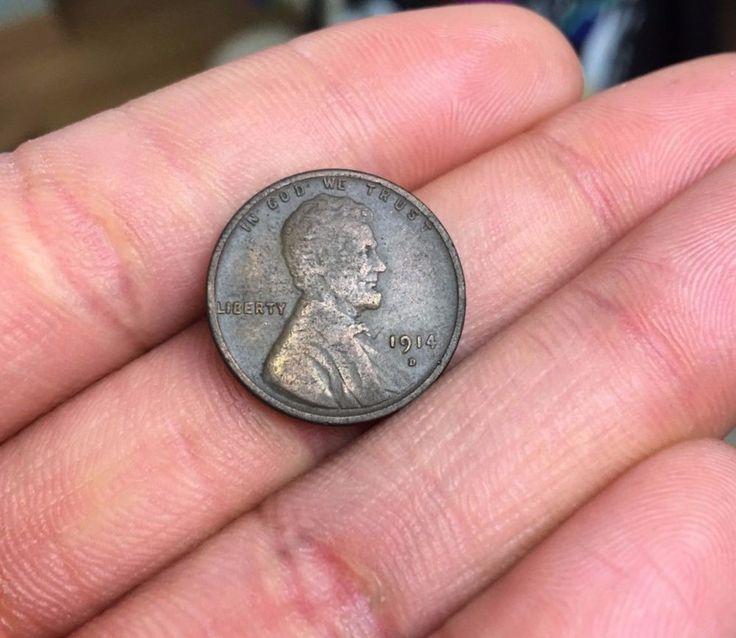1914 - D Lincoln Wheat Cent Pennie Rare Penny Collection Coin #lincoln #coin #ebay #antique #rare #1914coin