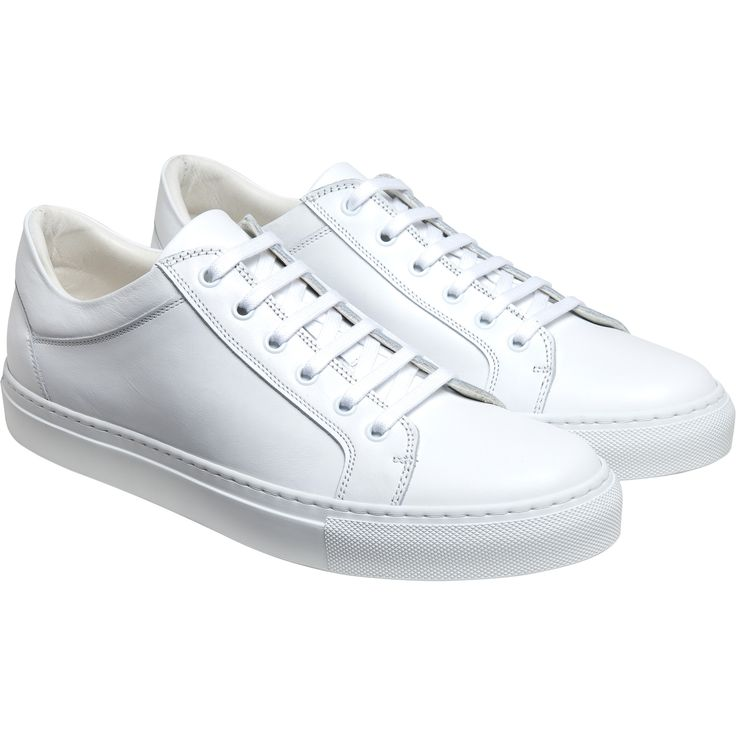 sneakers new come blanches Sneaker en cuir avec découpes surpiquées. Contrefort arrière brodé initiales A / B.