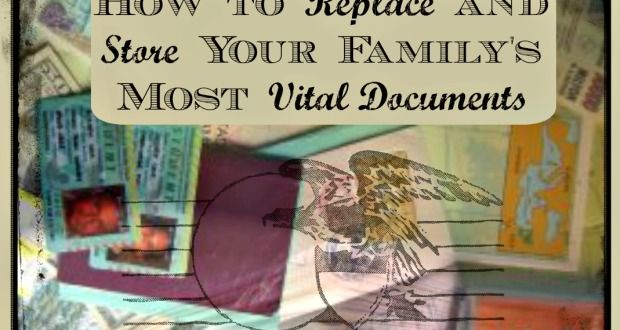 Replace and Store Your Family's Most Vital Documents