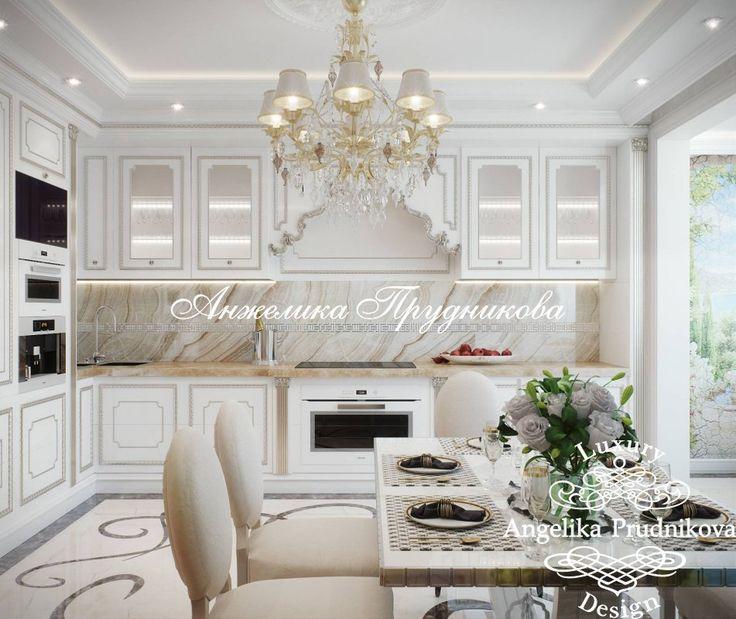 Дизайн интерьера кухни в Классическом стиле на Профсоюзной - фото