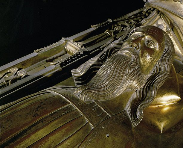 The tomb of Edward III (1327 to 1377) in Westminster Abbey in London. http://simon-rose.com/books/the-heretics-tomb/historical-background/