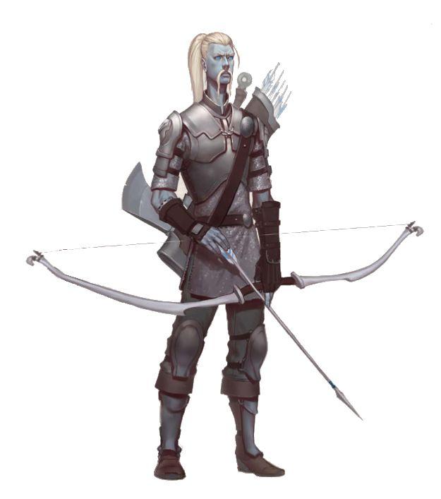 Cloud Giant Fighter Archer - Pathfinder PFRPG DND D&D d20 fantasy