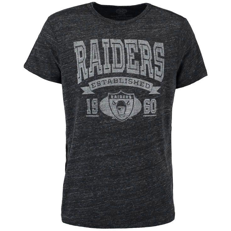 Oakland Raiders '47 Established Tri-Blend T-Shirt - Black - $27.19