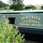 Signwriting on Luxury Hire Boat 'Serenity' for Puddling Cruisers, Milton Keynes