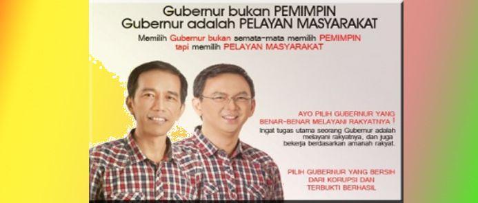 Ahok kalah janji Jokowi kembali timbul  Pasangan Jokowi Ahok dalam pilkada 2012  Banyak hal menarik pasca kalahnya Ahok dalam pilkada ibukota 19 April lalu. Selain kejutan selisih suara sangat jauh kini janji-janji kampanye pilkada 2012 kembali diangkat oleh publik. Seperti diketahui Ahok adalah cawagub dalam pertarungan 2012 dimana cagubnya adalah Ir. Joko Widodo yang kini jadi Presiden RI. Pasangan itu dahulu disokong partai Gerindra. Sementara 2017 Gerindra balik melawan Ahok. Setidaknya…