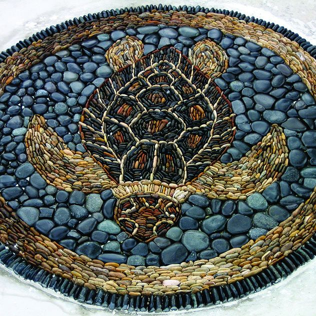 I love making mosaics and love turtles, but I don't think quite as much as @Ashley Walters Woolever   stone mosaic