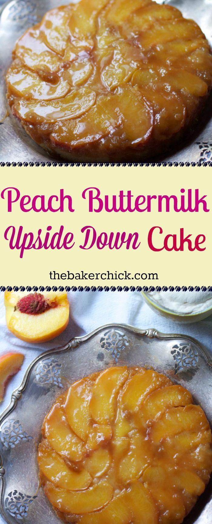 Peach Buttermilk Upside Down Cake