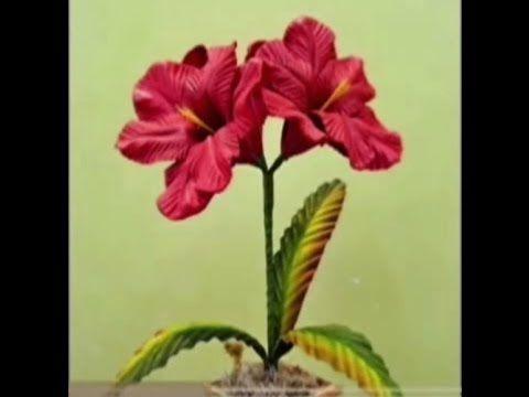 Mega Flores - Flores em EVA -  AMARÍLIS (passo a passo)