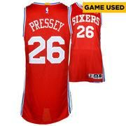#NBAStore.com - #NBAStore.com Philadelphia 76ers Phil Pressey Fanatics Authentic Game-Used #26 Red Jersey from the 2015-2016 NBA Season with Circle Patch - Size Large +2 - AdoreWe.com