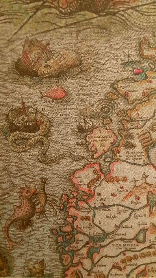 Olaus Magnus (1490-1557) Carta Marina et descriptio septemtrionalium terrarum ac mirabilium rerum in eis contentarum diligentissime elaborata anno Domini 1539. Description des pays du Nord, qui fut, dans la seconde moitié du xvie siècle, le principal ouvrage de référence concernant les pays scandinaves. Le livre, qu'il imprima lui-même à Rome, en 1555, comporte plusieurs centaines de gravures sur bois d'un très grand intérêt documentaire et artistique.