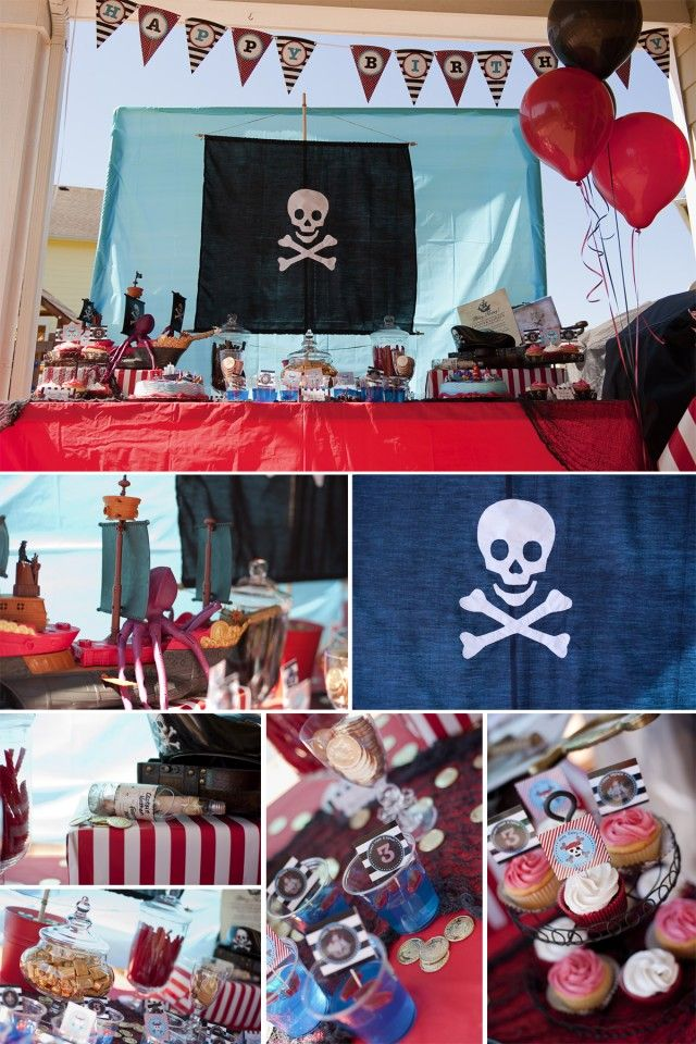 Pirate Party Theme: Pirate Party, Pirates, Party'S, Birthday Parties, Birthdays, Pirate Birthday, Party Ideas, Birthday Party, Birthday Ideas