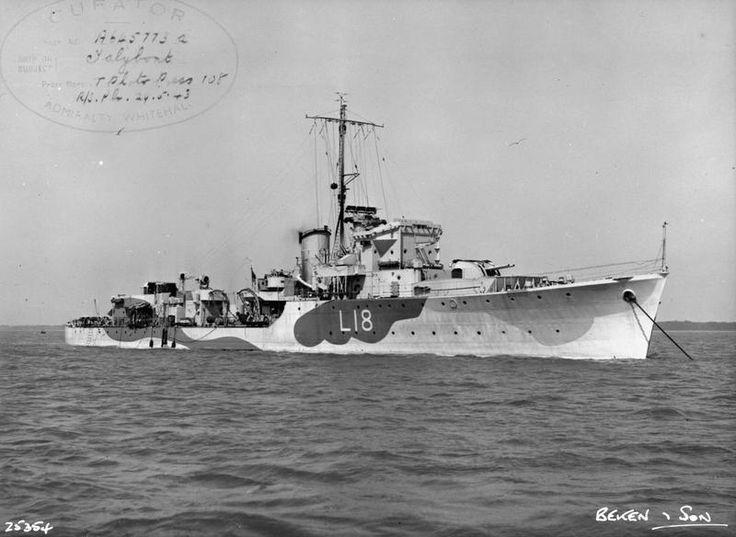 HMS Talybont (L18) Hunt-class escort destroyer of the British Royal Navy. July 3, 1944