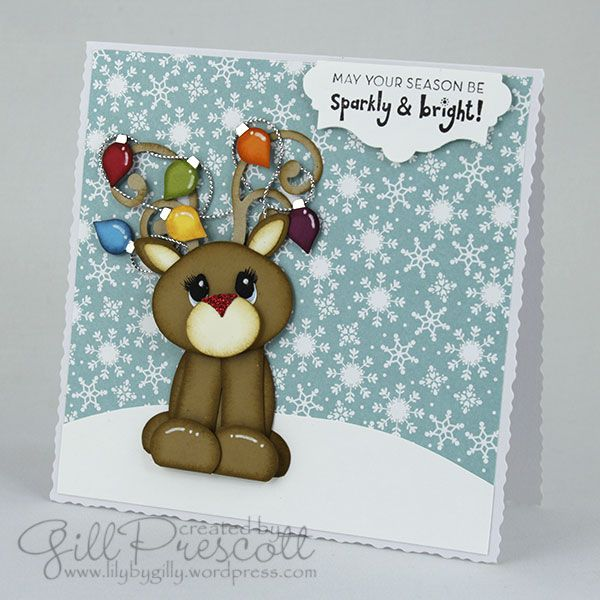 Punch art Rudolph with Stampin' Up punches and dies.