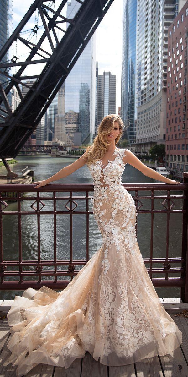 Milla Nova 2018 Wedding Dresses Collection ❤️ milla nova 2018 wedding dresses mermaid floral lace cappuccino colored sleeveless aora1 ❤️ See more: http://www.weddingforward.com/milla-nova-2018-wedding-dresses/ #weddingforward #wedding #bride #weddingdresses2018