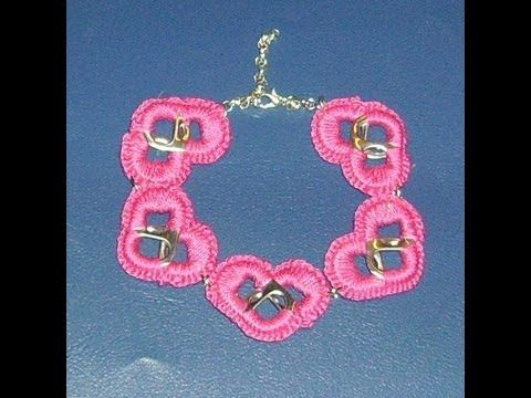 how to make a pop tab heart bracelet : part 1 - YouTube
