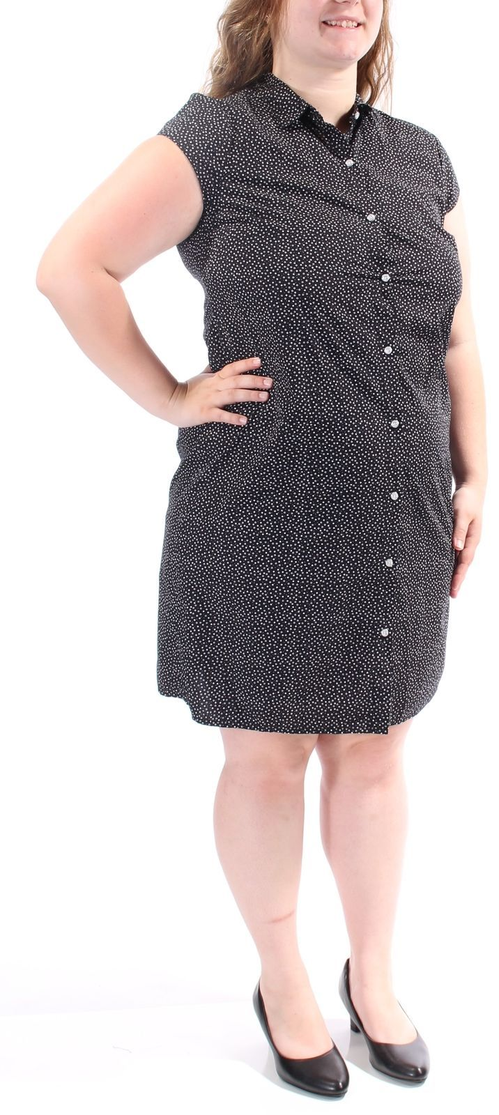 Nice Great TOMMY HILFIGER $80 New 1485 Black Polka Dot Belted Shirt Dress Dress L B+B  2017-2018 Check more at http://24shopping.tk/fashion-clothes/great-tommy-hilfiger-80-new-1485-black-polka-dot-belted-shirt-dress-dress-l-bb-2017-2018/