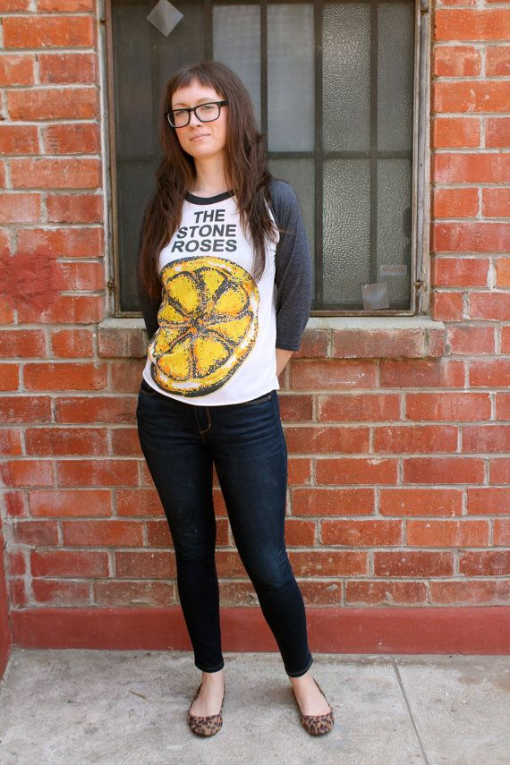 Vintage 90's THE STONE ROSES  Lemon Brit Pop Indie by PopLifeArts