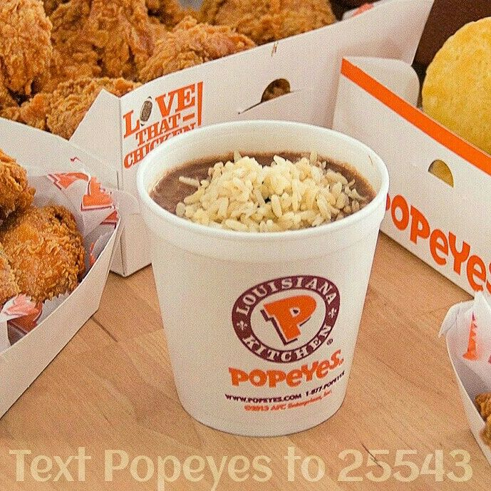 Oh I Heart This So Much Esp How Everything Centres: Popeyes Red Beans & Rice Are Always The Center Of